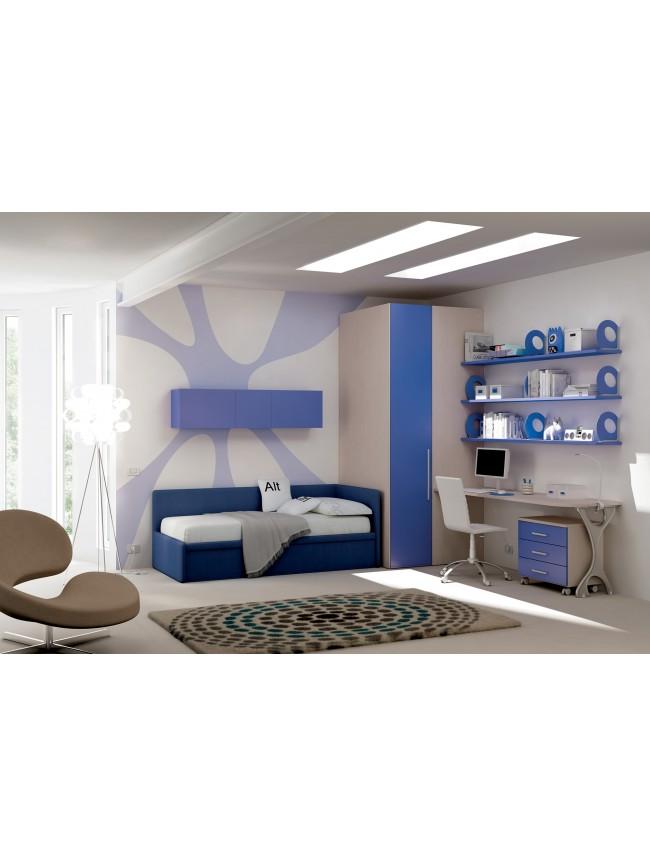 Chambre enfant avec lit canap lit gigogne moretti compact so nuit - Canape lit gigogne adulte ...