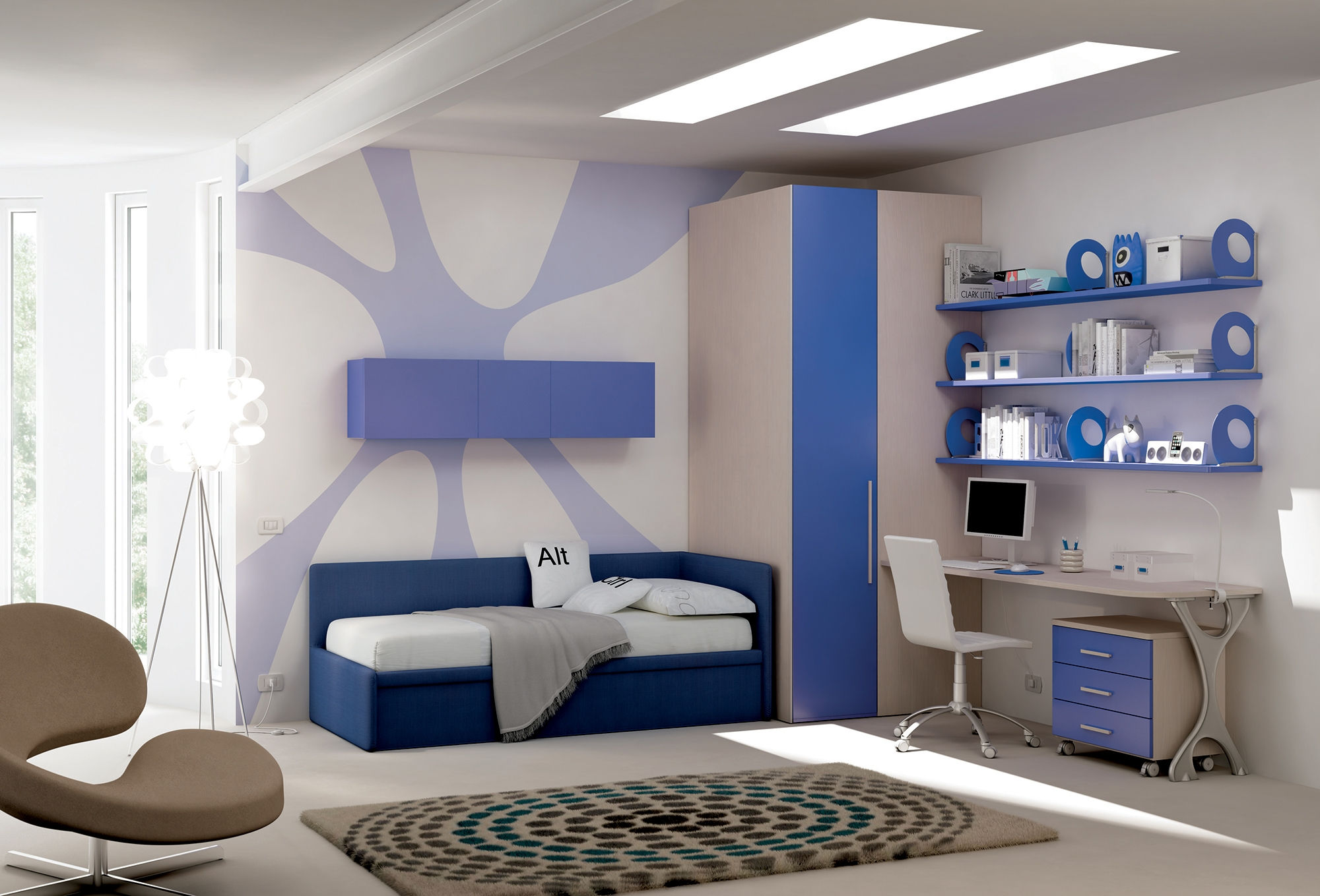 chambre enfant avec lit canap lit gigogne moretti compact so nuit. Black Bedroom Furniture Sets. Home Design Ideas