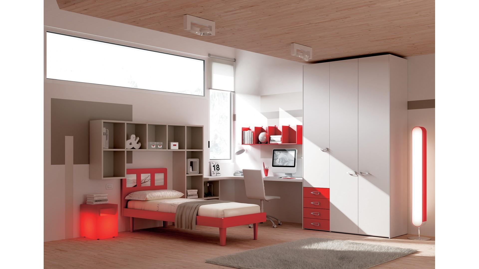 Chambre enfant avec tête de lit lumineuse - MORETTI COMPACT - SO NUIT