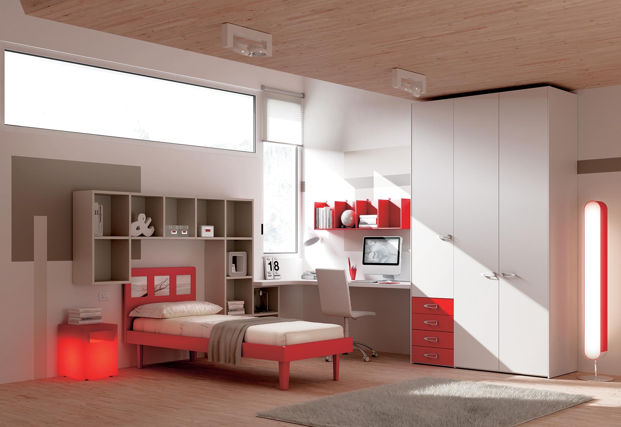 Chambre enfant PERSONNALISABLE KC14 - MORETTI COMPACT