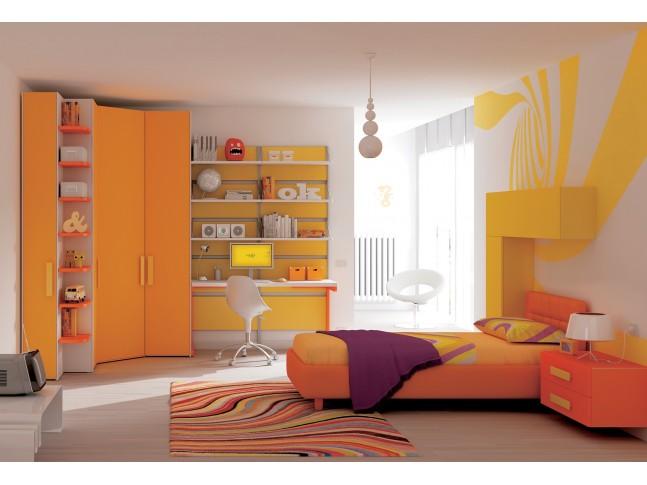 Chambre enfant PERSONNALISABLE KC15 avec lit coffre - MORETTI COMPACT