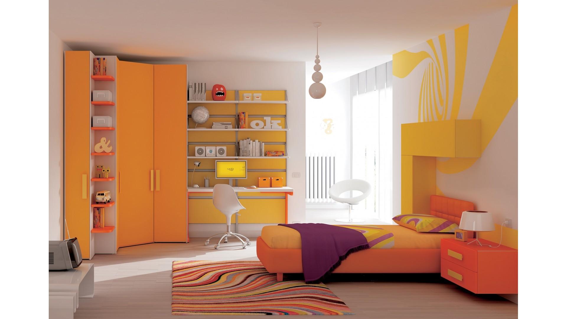 Chambre enfant fun avec lit coffre & chevet - MORETTI COMPACT- SO NUIT