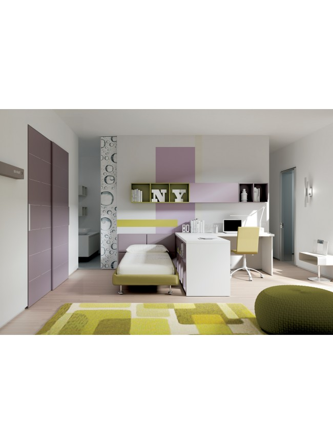 chambre enfant compl te tr s color e et fun moretti compact so nuit. Black Bedroom Furniture Sets. Home Design Ideas