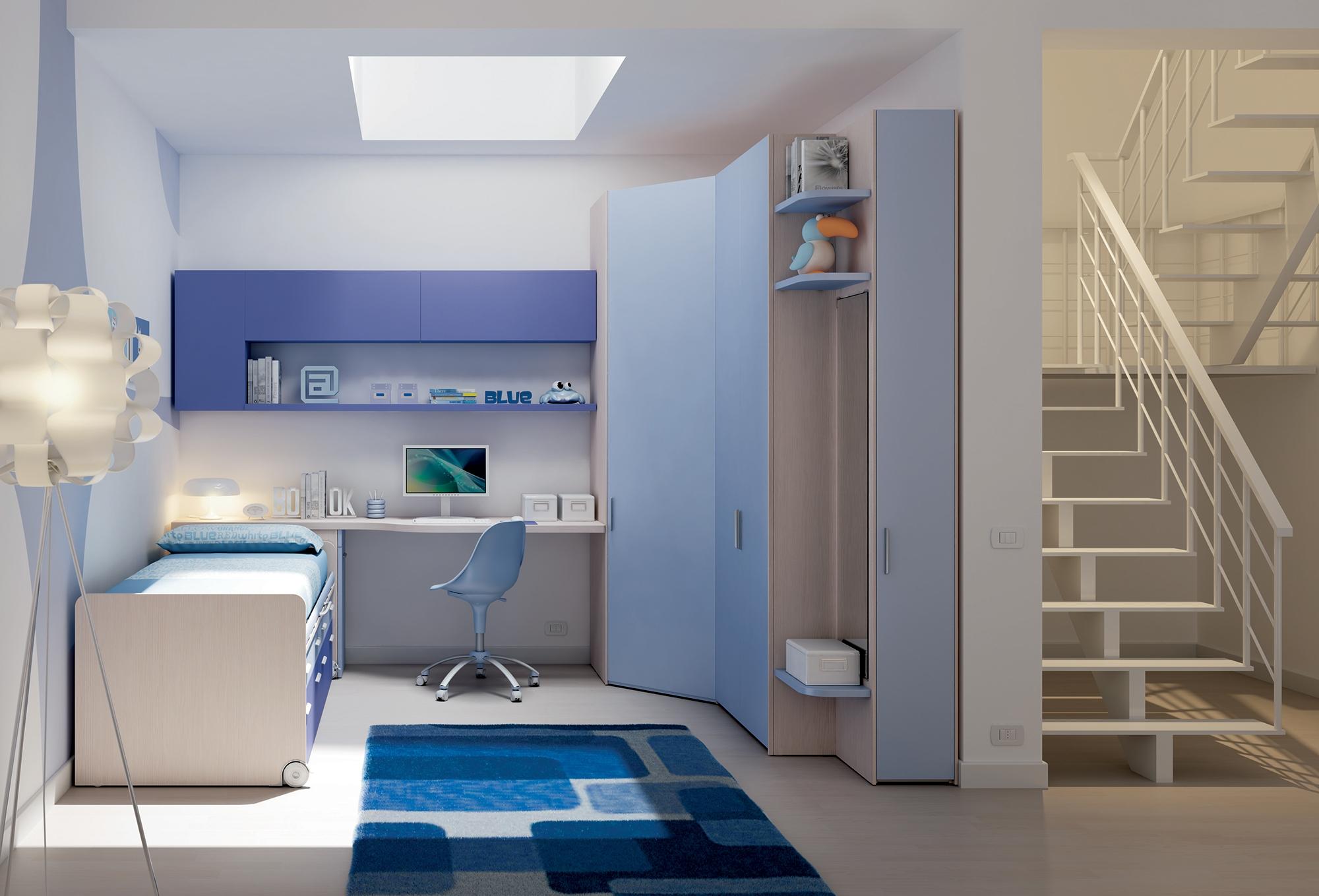 Chambre enfant complète moderne et colorée   moretti compact   so nuit