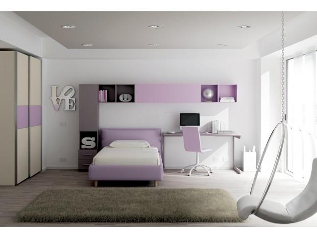 Chambre enfant PERSONNALISABLE KC21 lit coffre rembourré - MORETTI COMPACT