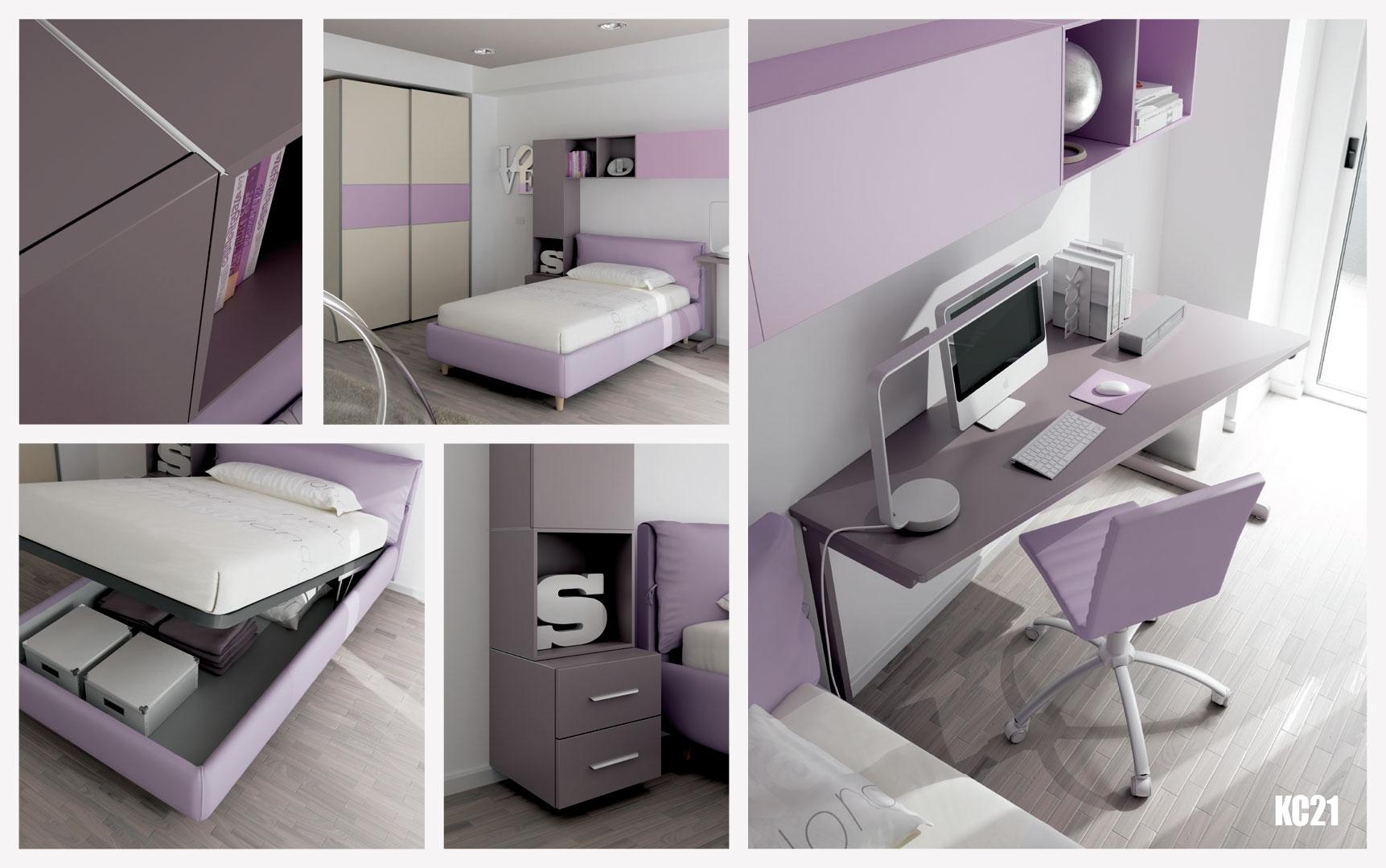 chambre enfant avec lit coffre rembourr moretti compact. Black Bedroom Furniture Sets. Home Design Ideas