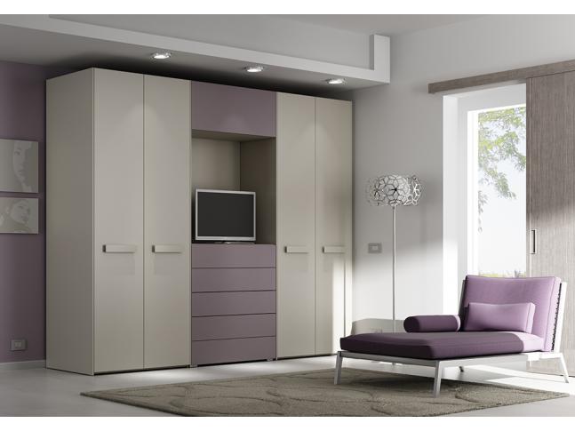 Armoire dressing PERSONNALISABLE AM16 avec portes pliantes - MORETTI COMPACT
