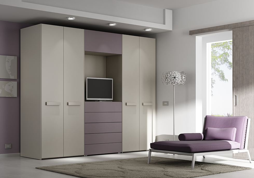 armoire dressing portes pliantes tiroirs moretti compact so nuit. Black Bedroom Furniture Sets. Home Design Ideas