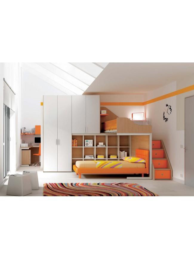 Lit superpos lit jumeaux collection prix c lin so nuit - Lit mezzanine compact ...