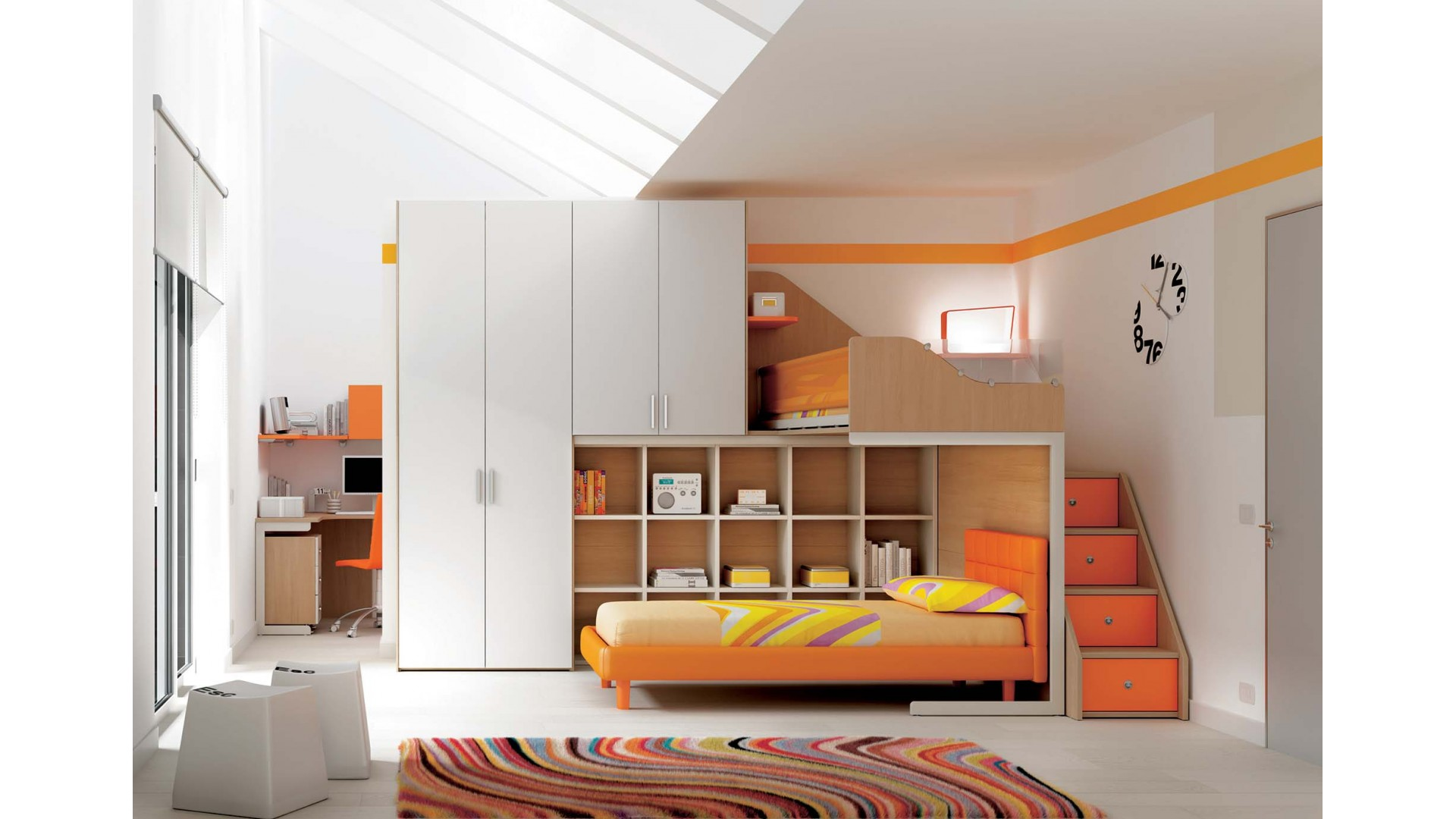 Awesome mezzanine dans chambre photos for Lit mezzanine enfant