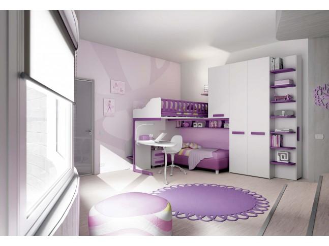 Chambre enfant PERSONNALISABLE KS14 lits superposés en mezzanine - MORETTI COMPACT