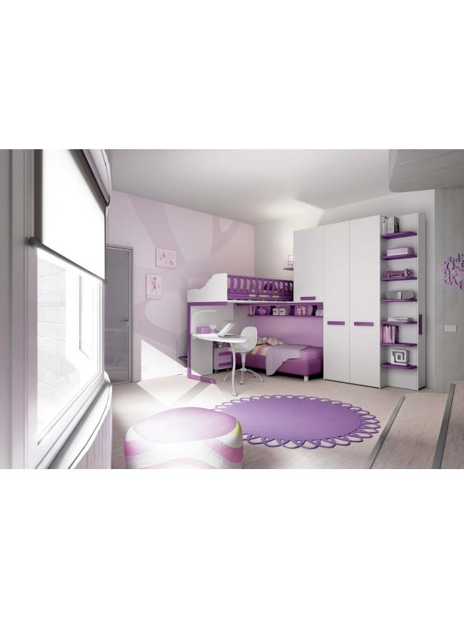 chambre enfant design avec lits superpos s moretti compact so nuit. Black Bedroom Furniture Sets. Home Design Ideas