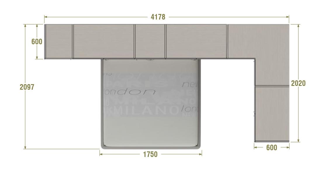 Chambre adulte compl te avec pont design moretti compact for Chambre adulte complete venise ii sans tiroir lit