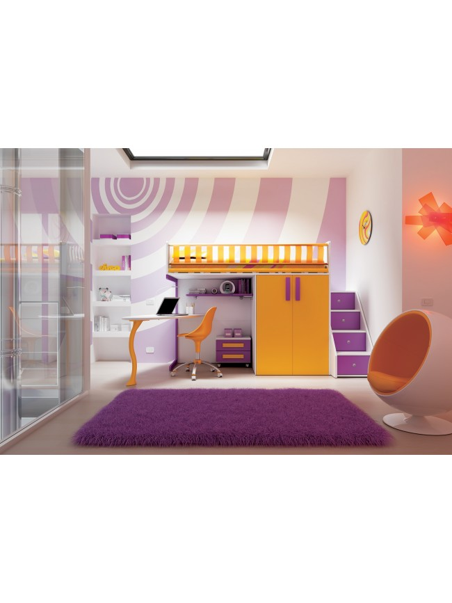 lit mezzanine compact affordable collection dimix by gautier enfants u ados with lit mezzanine. Black Bedroom Furniture Sets. Home Design Ideas