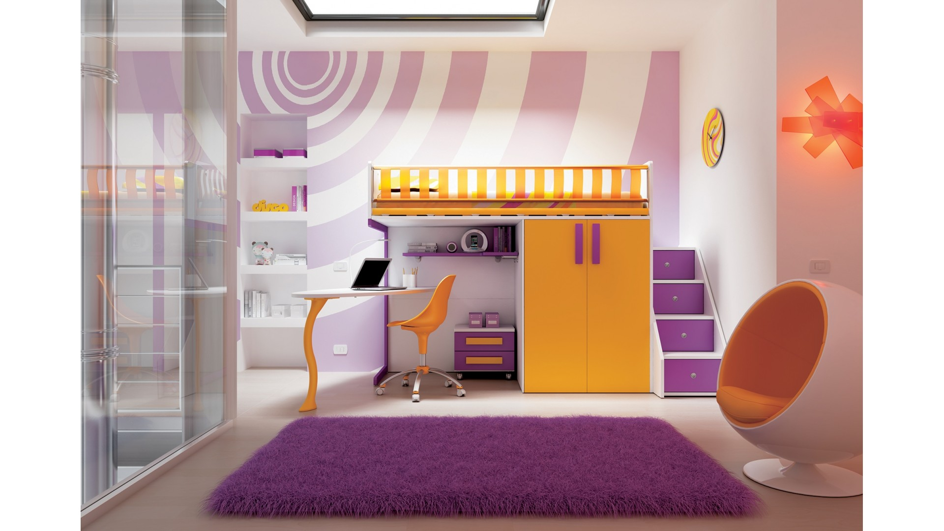 Emejing mezzanine chambre fille ideas for Lit mezzanine enfant