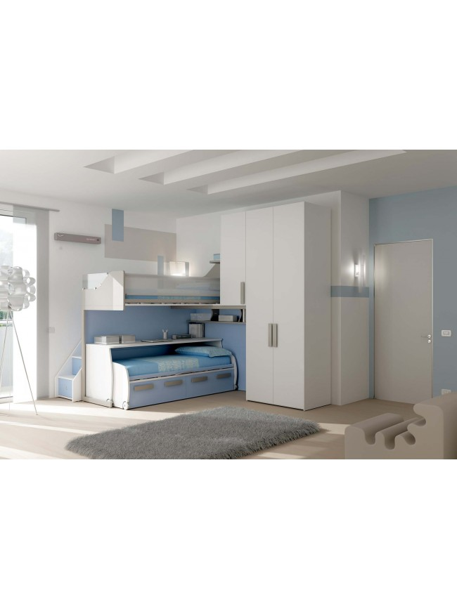 lits superpos s avec lit gigogne fun et moderne glicerio so nuit. Black Bedroom Furniture Sets. Home Design Ideas