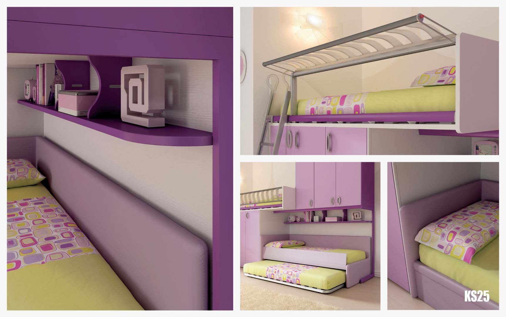 chambre enfant lits superpos s gigogne moretti compact so nuit. Black Bedroom Furniture Sets. Home Design Ideas