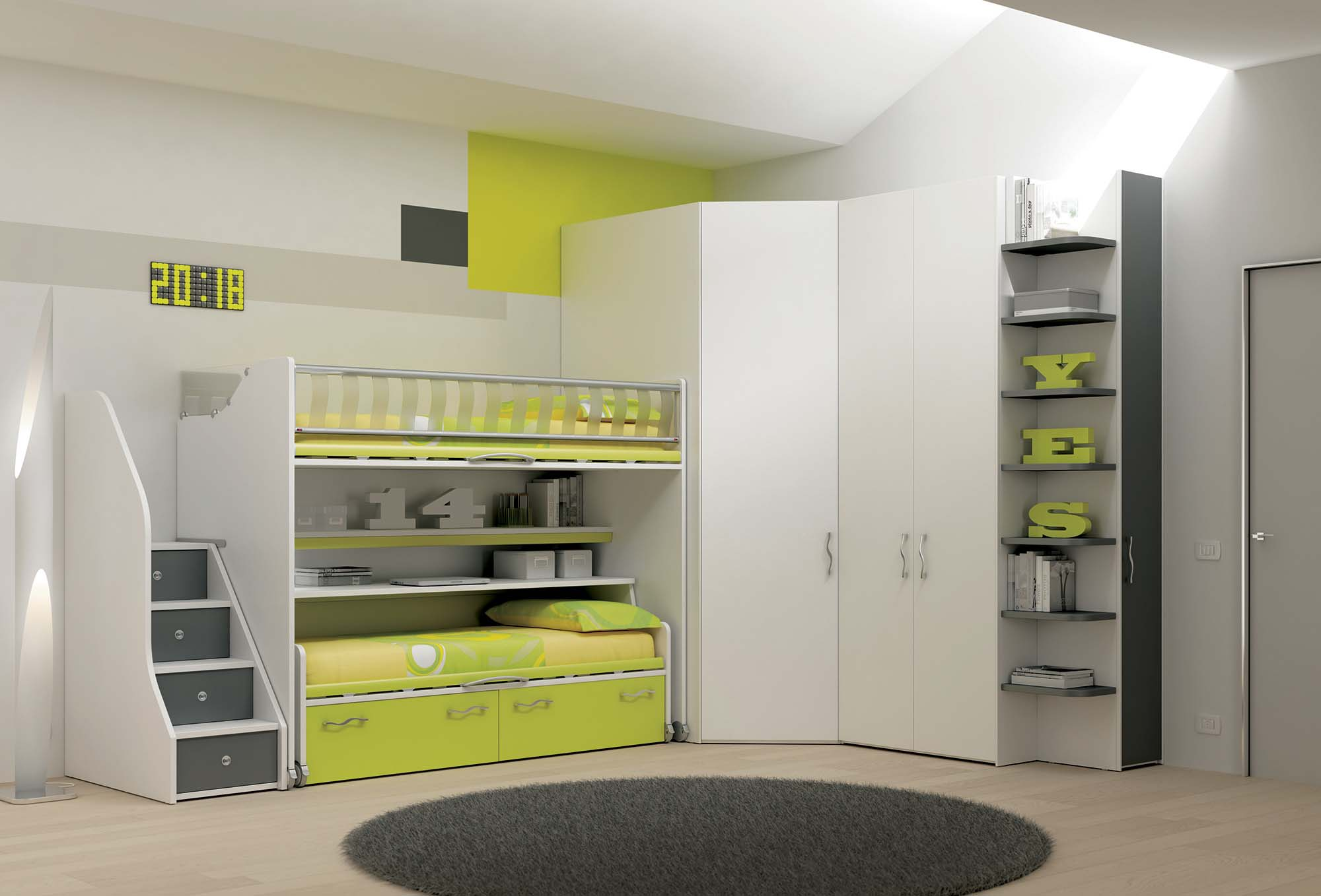 Chambre bebe marron et vert for Chambre ultra moderne