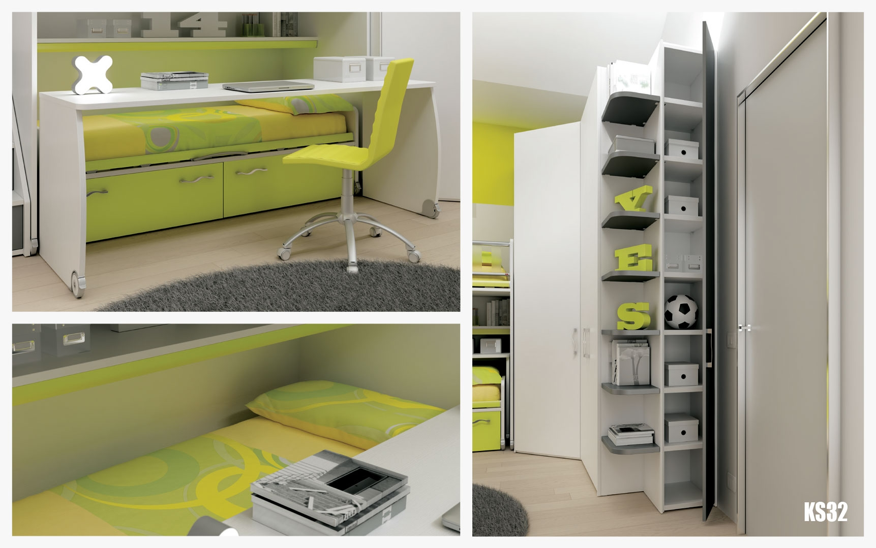 chambre enfant ultra compact moderne moretti compact. Black Bedroom Furniture Sets. Home Design Ideas
