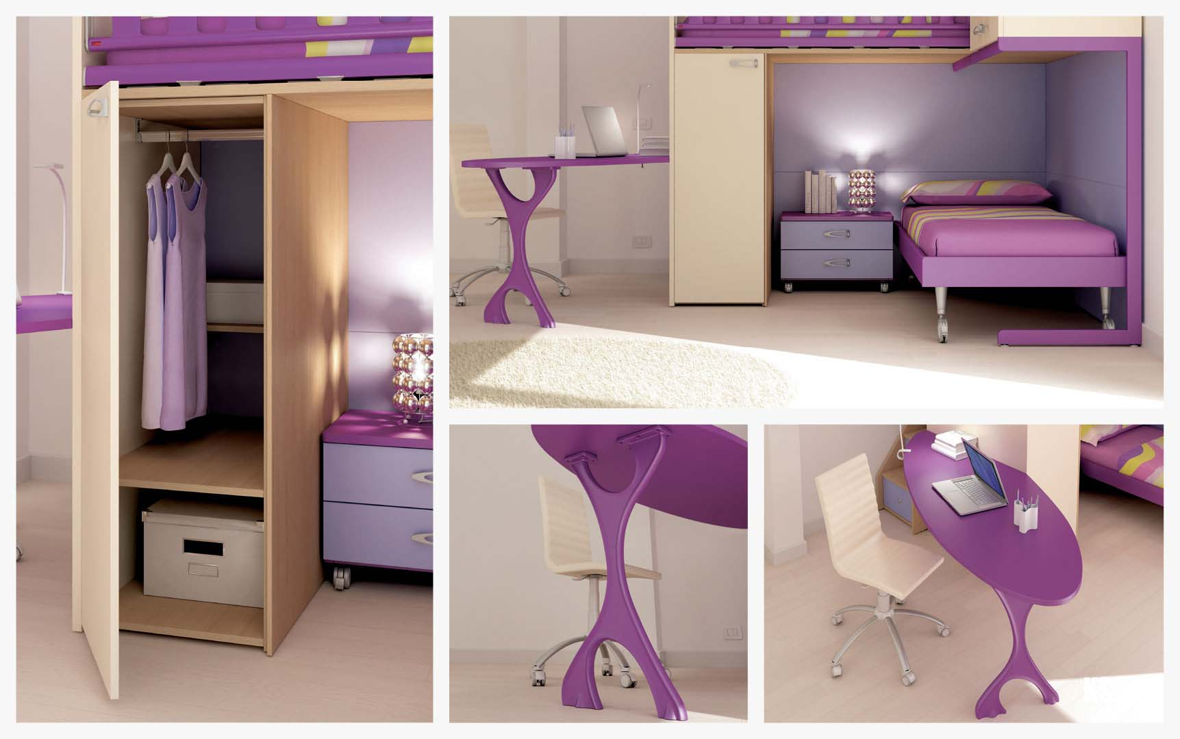 chambre enfant color e compact pratique moretti compact so nuit. Black Bedroom Furniture Sets. Home Design Ideas