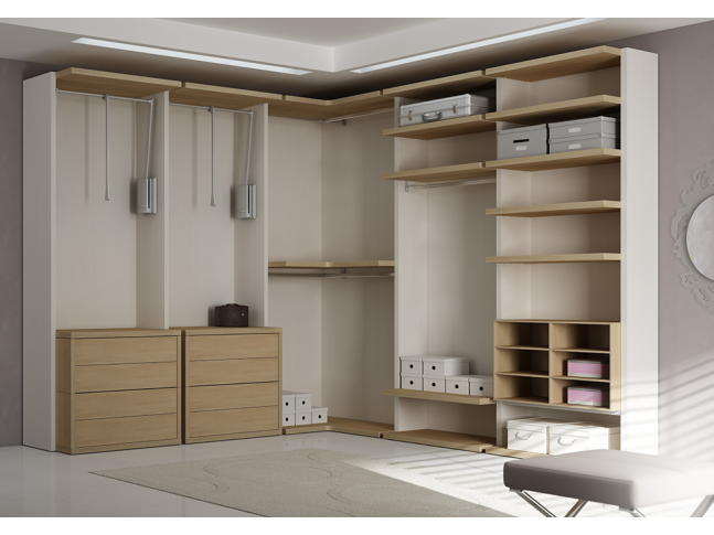 dressing sur mesure avec tiroirs push pull moretti. Black Bedroom Furniture Sets. Home Design Ideas