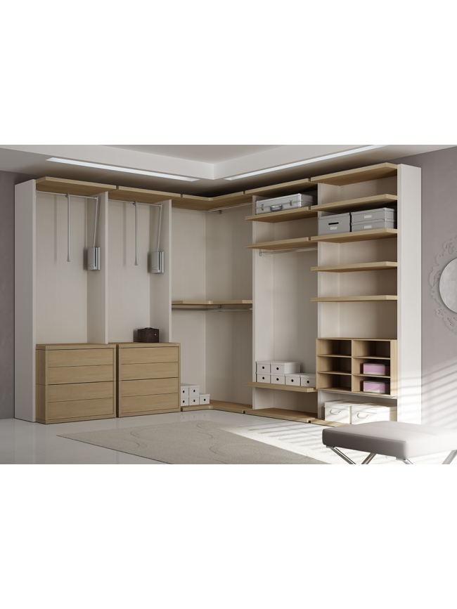 dressing sur mesure avec tiroirs suspendus moretti. Black Bedroom Furniture Sets. Home Design Ideas