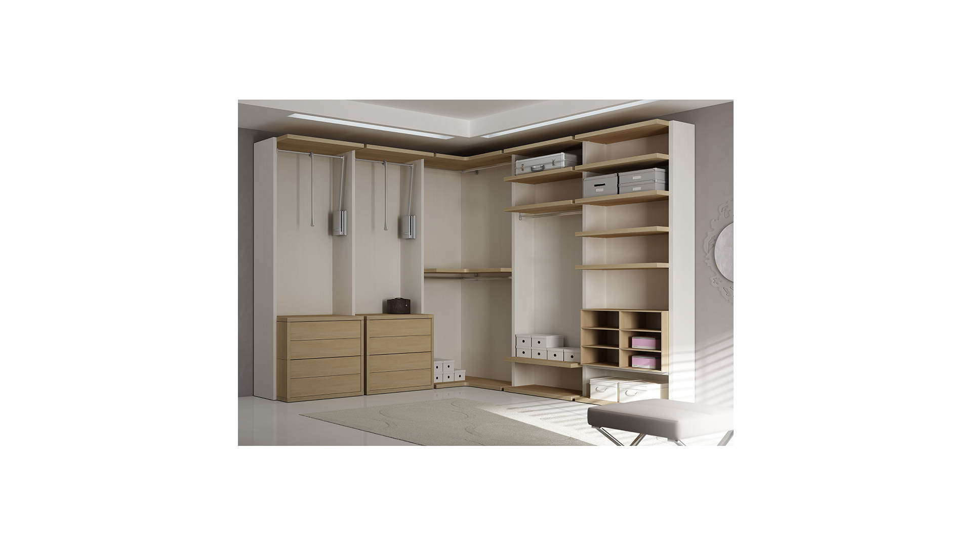caisson pour dressing sur mesure. Black Bedroom Furniture Sets. Home Design Ideas