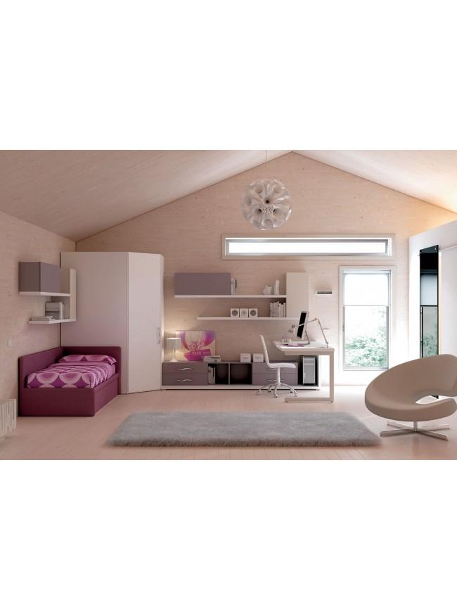 Chambre enfant compl te avec lit canap moretti compact - Chambre complete enfants ...