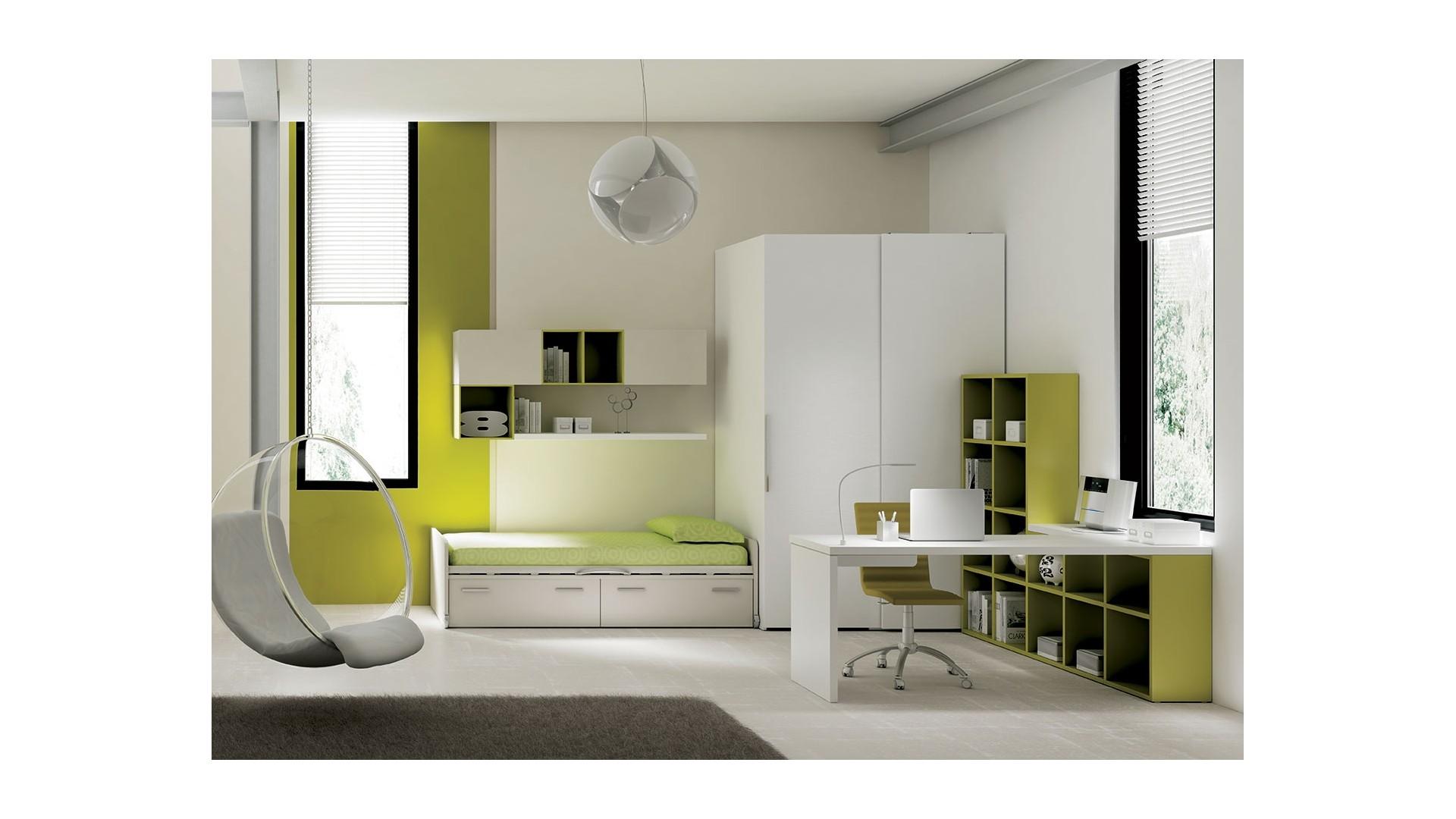Chambre ado avec lit avec rangement moretti compact so for Chambre adulte complete venise ii sans tiroir lit