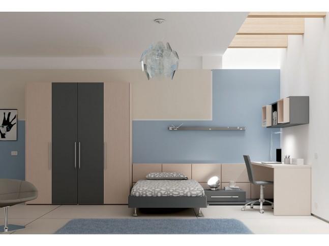 Chambre PERSONNALISABLE YC23 avec lit ado - MORETTI COMPACT