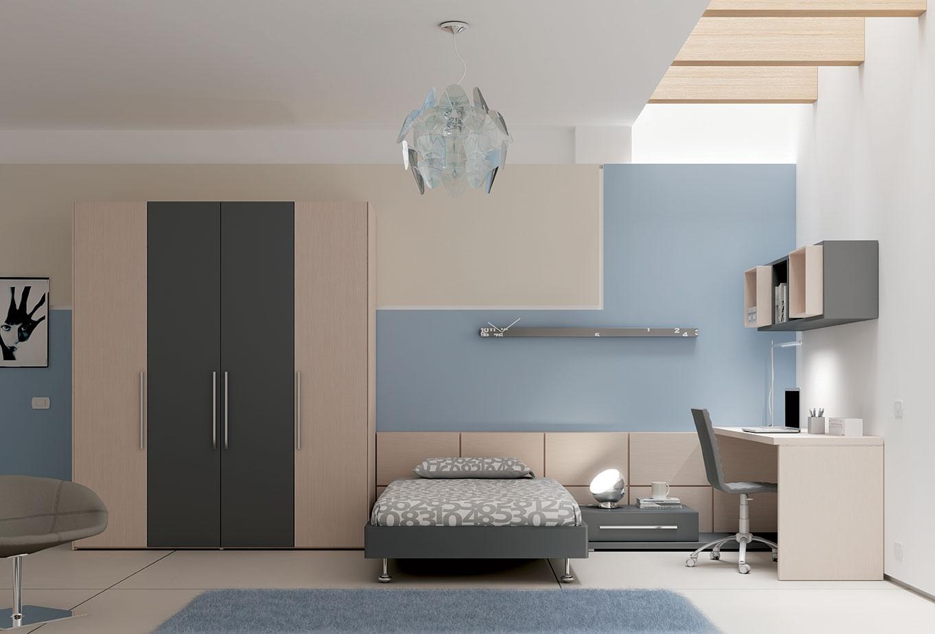 Chambre complète épurée avec tête lit ado   moretti compact   so nuit