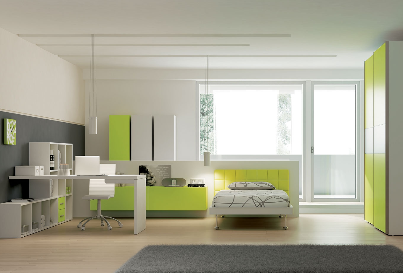 Chambre ado PERSONNALISABLE YC30 lit 1 personne - MORETTI COMPACT