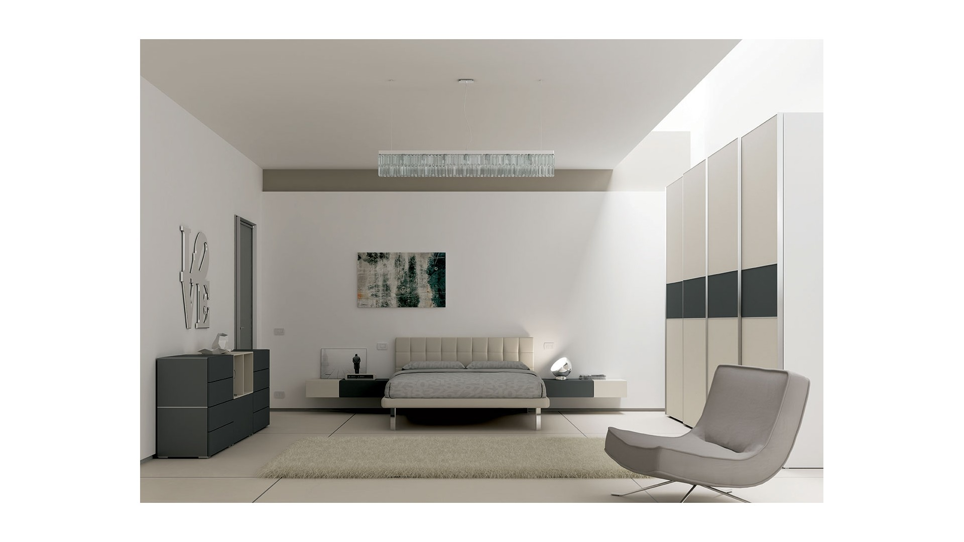 chambre adulte avec lit 2 personnes moretti compact so nuit. Black Bedroom Furniture Sets. Home Design Ideas
