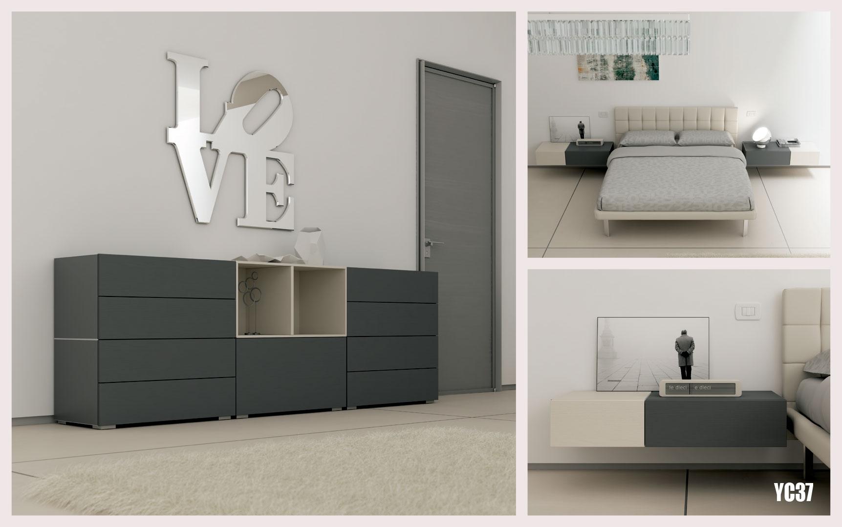 chambre adulte avec lit 2 personnes moretti compact so nuit. Black Bedroom Furniture Sets. Home Design Ideas
