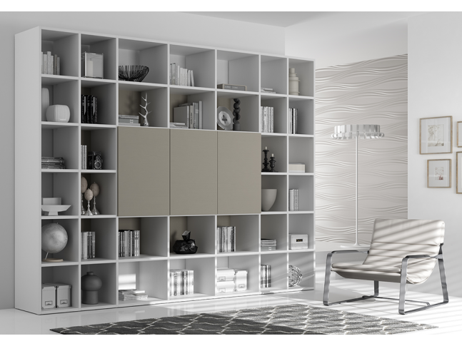 meuble biblioth que ultra moderne color moretti compact so nuit. Black Bedroom Furniture Sets. Home Design Ideas