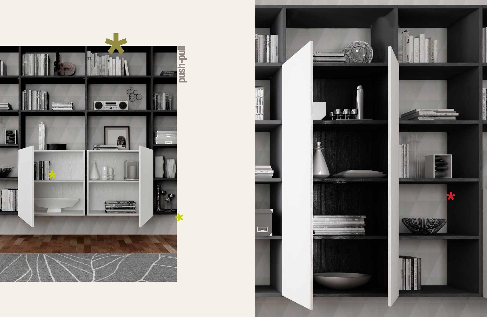 biblioth que design suspendue unique moretti compact so nuit. Black Bedroom Furniture Sets. Home Design Ideas