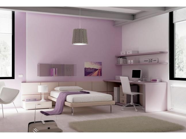 Chambre ado PERSONNALISABLE YC40 lit 1 personne - MORETTI COMPACT