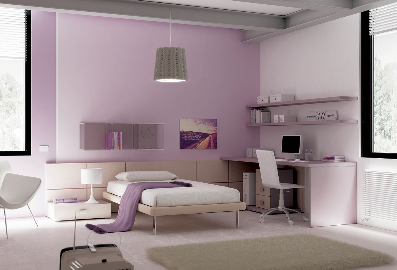 chambre ado pur e avec lit 1 personne moretti compact so nuit. Black Bedroom Furniture Sets. Home Design Ideas