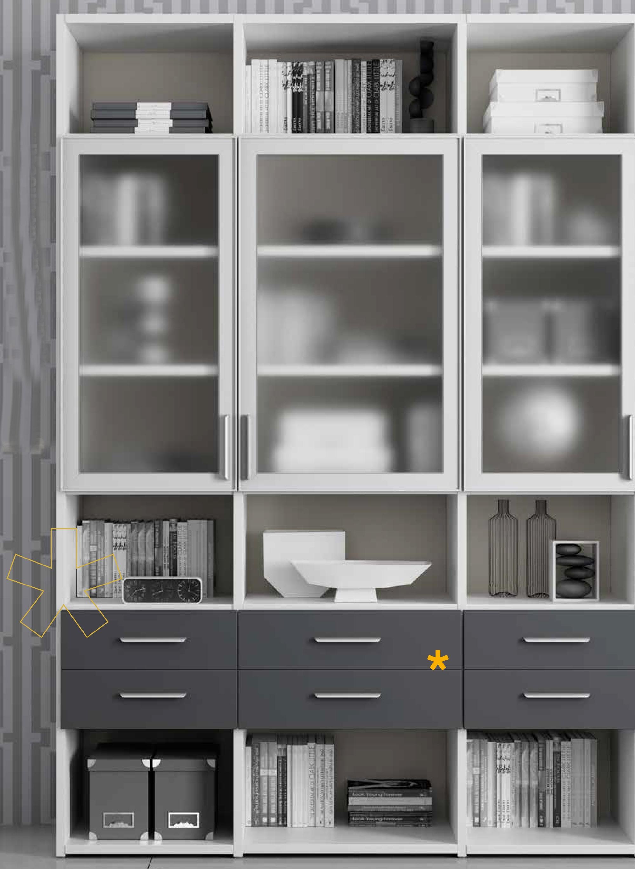Biblioth Que Avec Portes Vitr Es Sammlung Von Design Zeichnungen Als