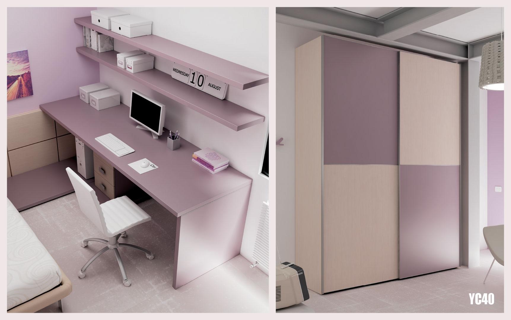 chambre ado pur e avec lit 1 personne moretti compact so nuit. Black Bedroom Furniture Sets. Home Design Ideas