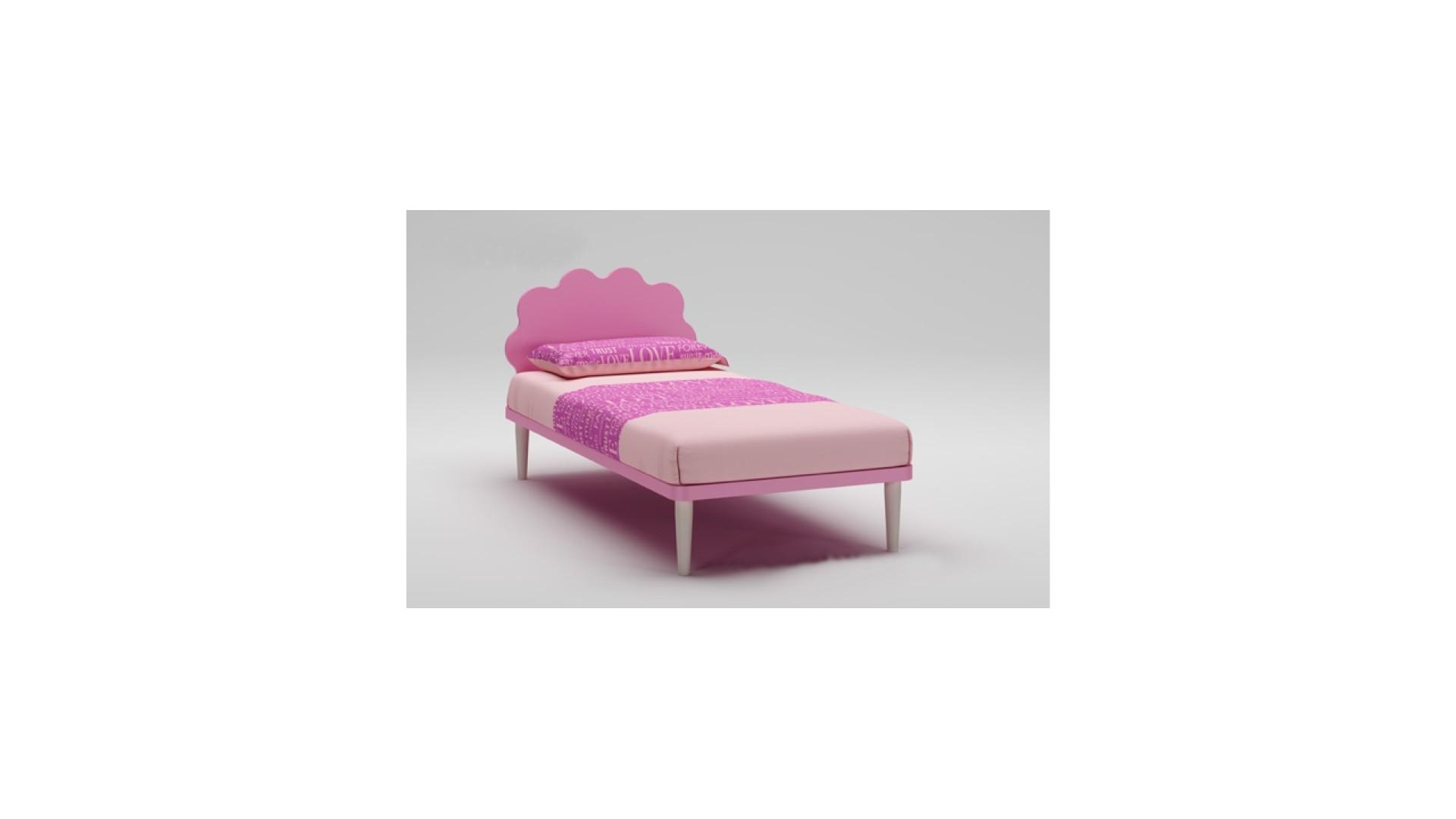 Lit Fille PERSONNALISABLE WL020 de 90 x 200 couleur poudré - MORETTI COMPACT