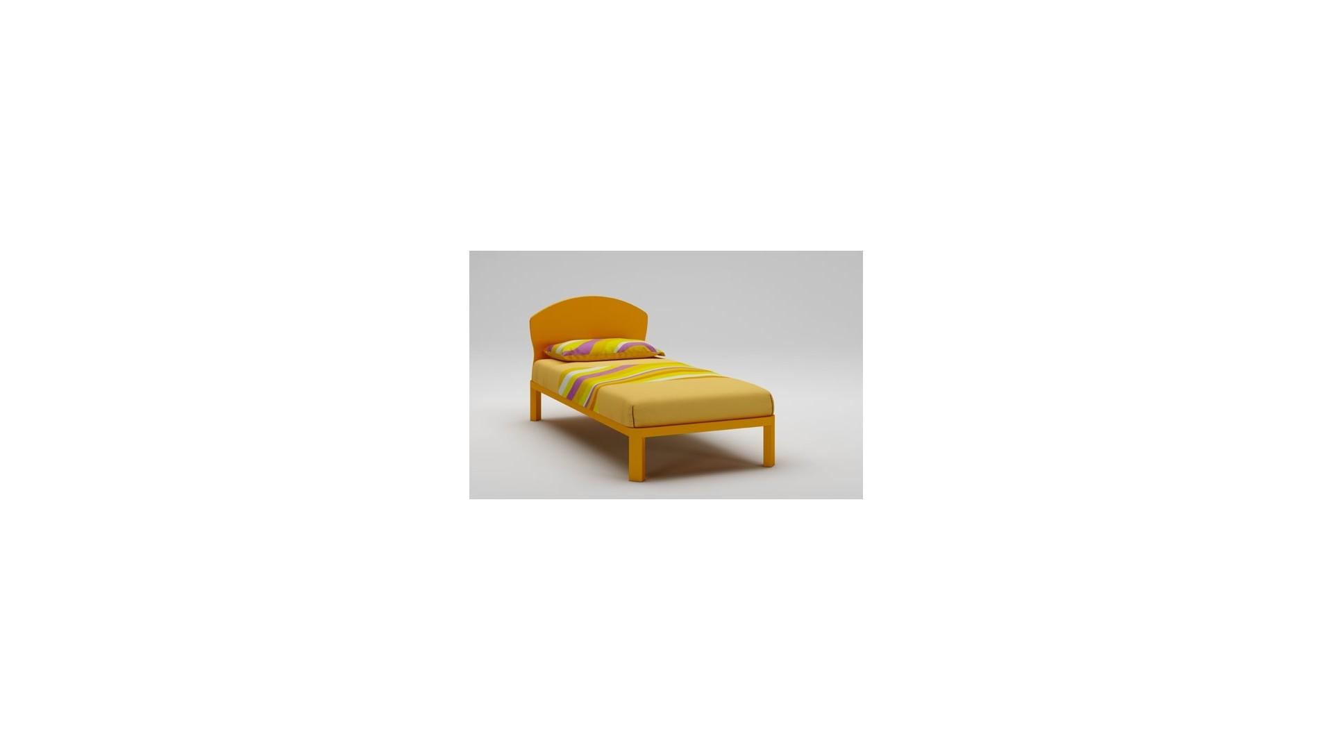 Lit enfant PERSONNALISABLE WL029 de 90 x 200 couleur orange - MORETTI COMPACT