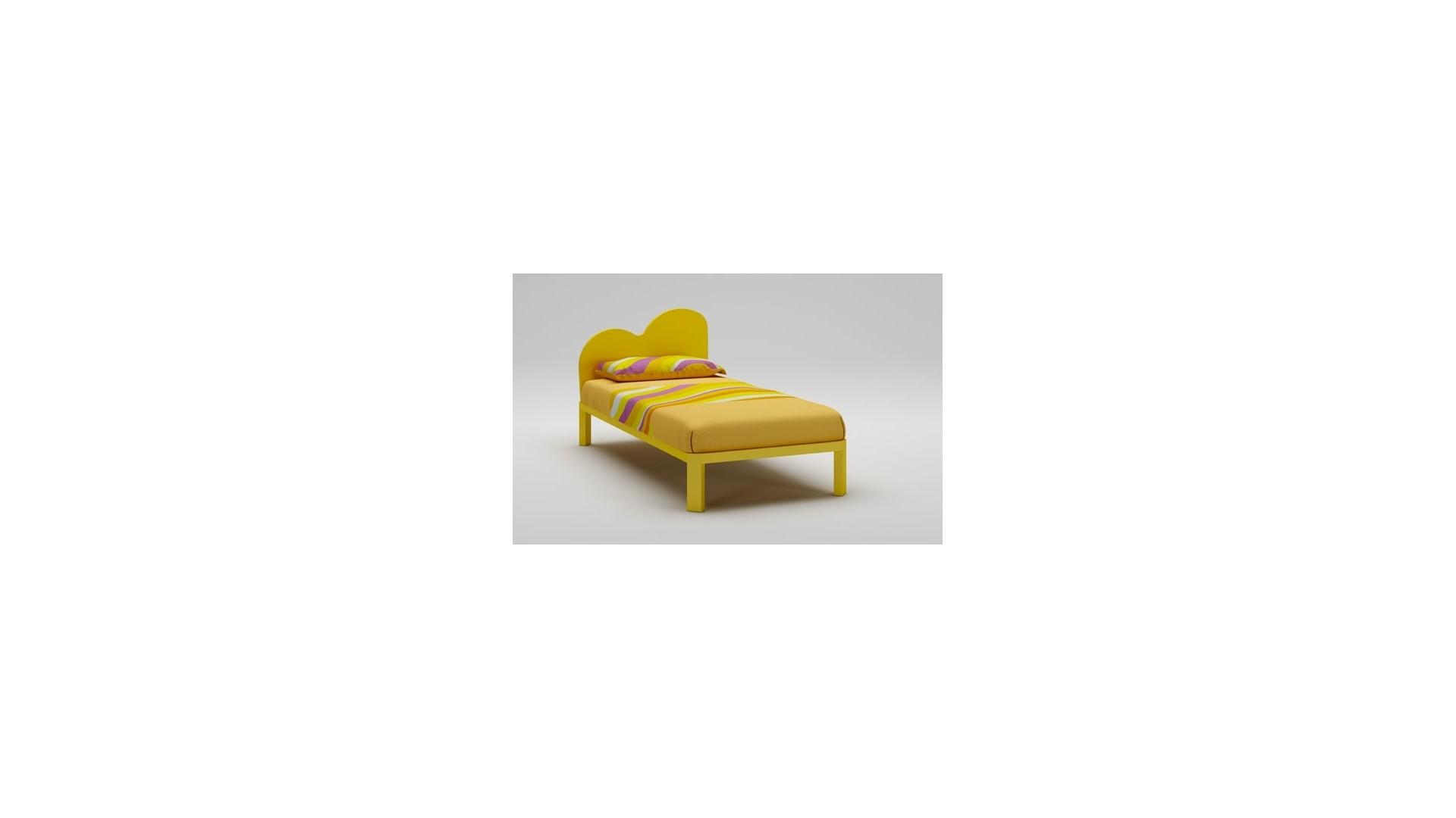 Lit enfant PERSONNALISABLE WL032 de 90 x 200 couleur jaune soleil - MORETTI COMPACT