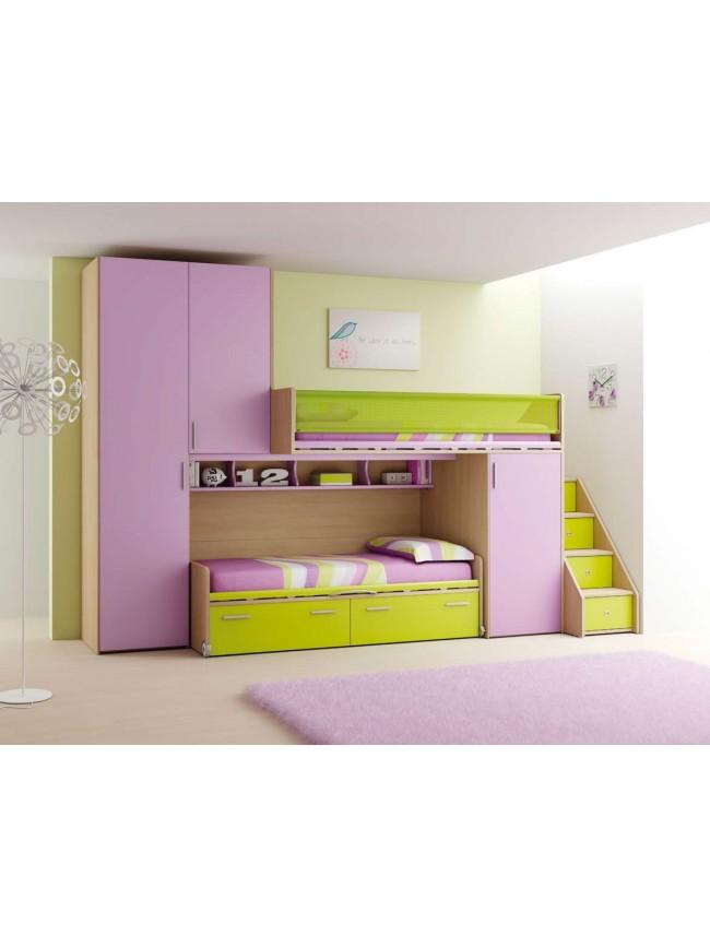 chambre enfant fun avec lits superpos s moretti compact so nuit. Black Bedroom Furniture Sets. Home Design Ideas