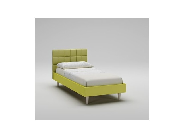 Lit enfant PERSONNALISABLE WL040 de 90 x 200 couleur olive avec tête de lit rembourrée - MORETTI COMPACT