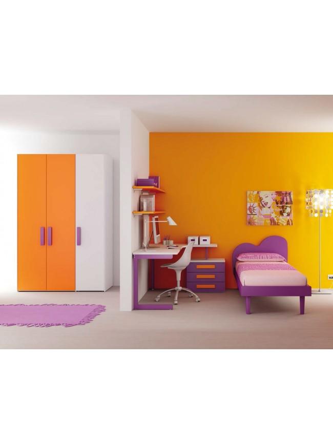 Chambre enfant avec lit 1 personne color moretti for Chambre 1 personne complete