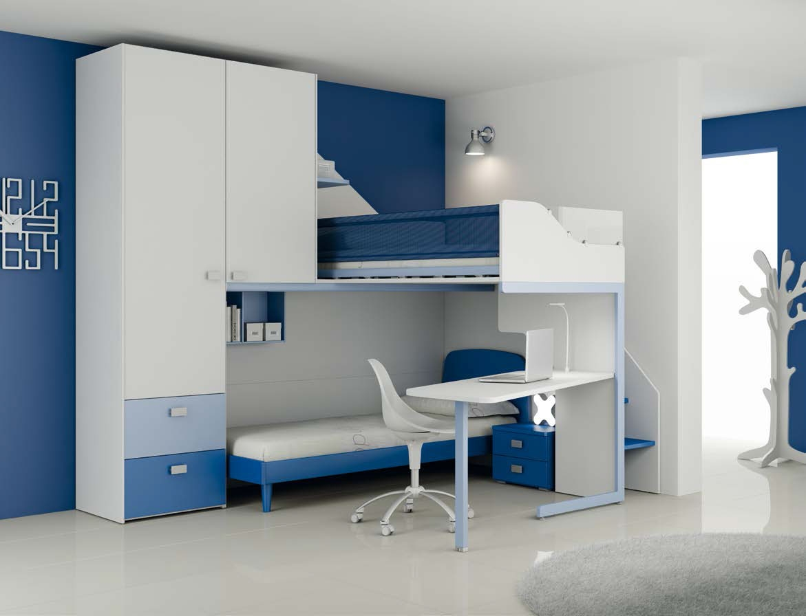 chambre enfant pour gar on moderne design moretti. Black Bedroom Furniture Sets. Home Design Ideas