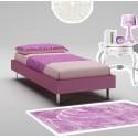 Lit Fille PERSONNALISABLE WL042 de 90 x 200 couleur cyclamen - MORETTI COMPACT
