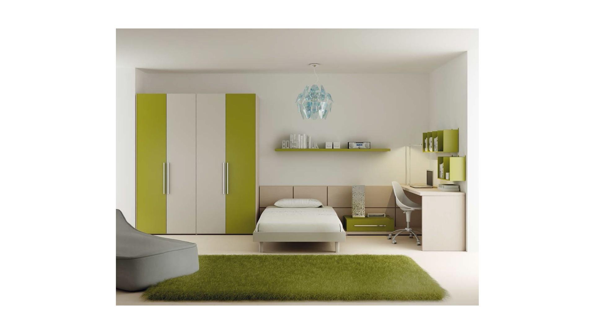Chambre complète PERSONNALISABLE LH16 avec lit ado - MORETTI COMPACT