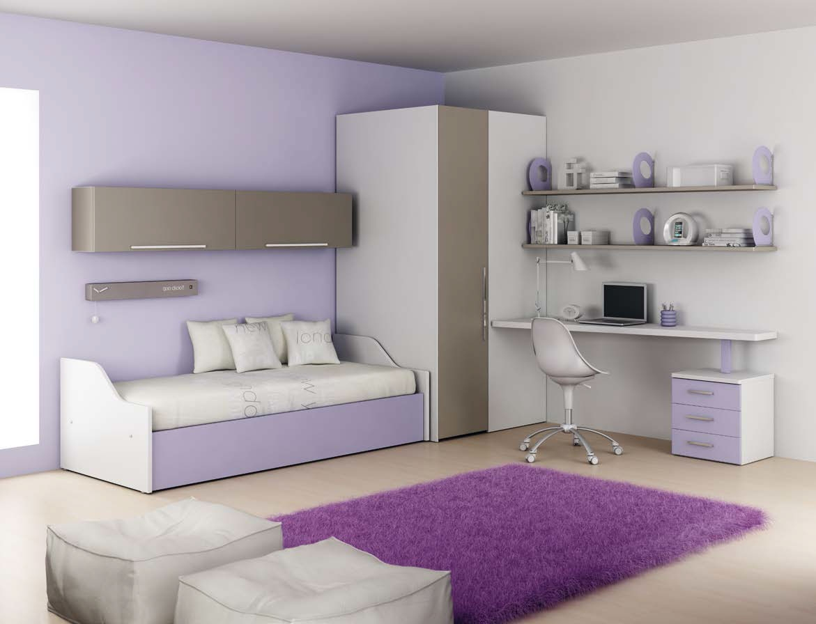 Chambre enfant PERSONNALISABLE LH21 lit canapé et lit gigogne - MORETTI COMPACT